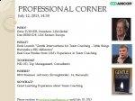 Professional Corner - 12 iulie 2013