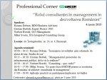 Professional Corner - 4 iunie 2015, Bucuresti