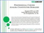 Professional Corner - Analiza Constituției României (22 martie 2013)