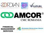 BUSINESS DEVELOPING GROUP, FINANCIAL MANAGEMENT SERVICES, GORDIAN INC. EXPERT, noile firme de consultanță în management atestate de către AMCOR
