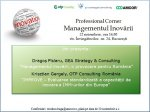 Professional Corner - Managementul Inovării - 22 noiembrie 2013