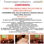 AMCOR vă  recomandă  conferinţa Corecţiile/Reducerile Financiare şi Aspectele Penale, 2 noiembrie Bucureşti