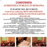 Conferinţa naţională Achiziţiile Publice în România - Noi Modificări ale O.U.G. 34/2006, 29 martie 2013, Howard Johnson, Bucureşti